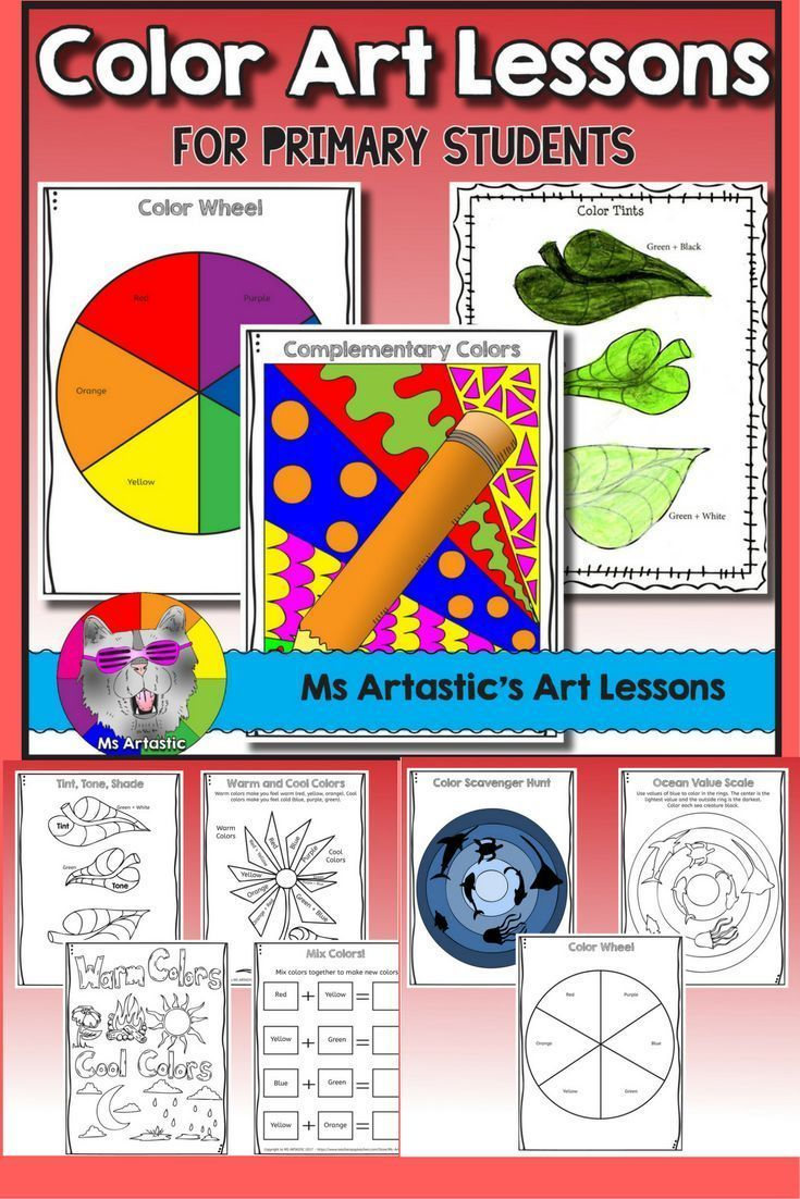 Let your primary students mix colors to create their own color wheel, color tints, warm and cool colors,value scales, and contrasting colors! Through this book your students will experiment with a variety of mediums such as paint and oil pastel to learn c