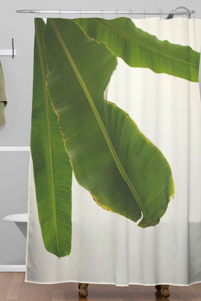 Catherine McDonald Tropical Banana Leaves Shower Curtain | DENY Designs Home Accessories