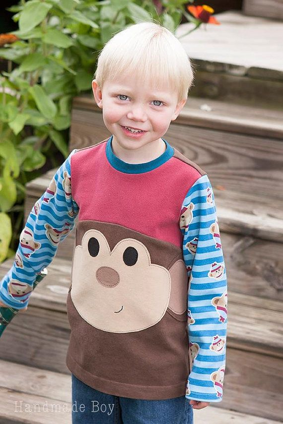 Mac's Monster T-shirt PDF Sewing Pattern Sizes door ColesCreations