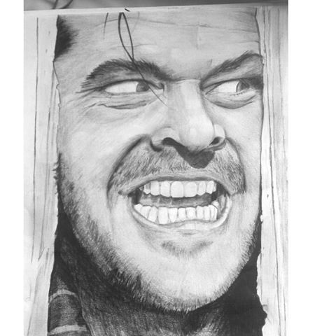 #king #эскиз #shining #рисунок #portrait #LxV #russia #drawing #сияние #jack #jacktorrence #jacknicholson #novosibirsk #sketch #портрет #pen #карандаш