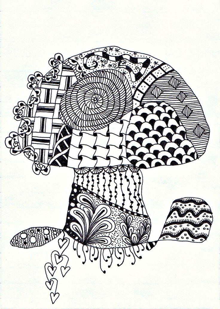 Скоро, открытка в технике зентангл