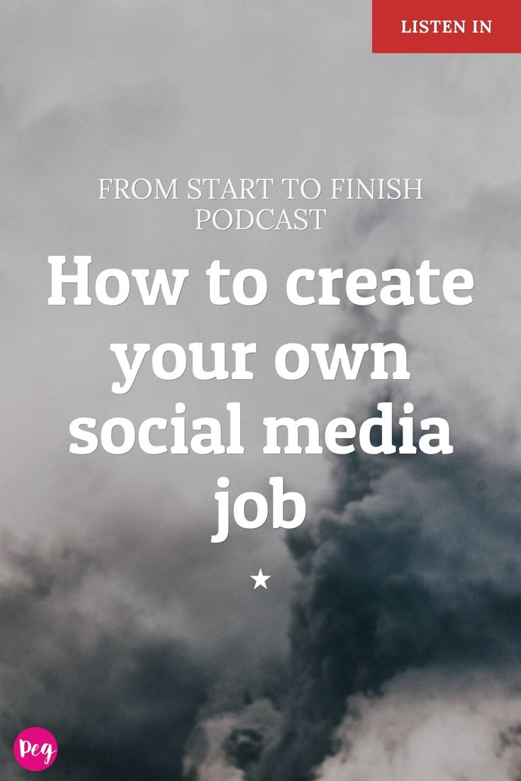 How to create your own social media job - podcast interview