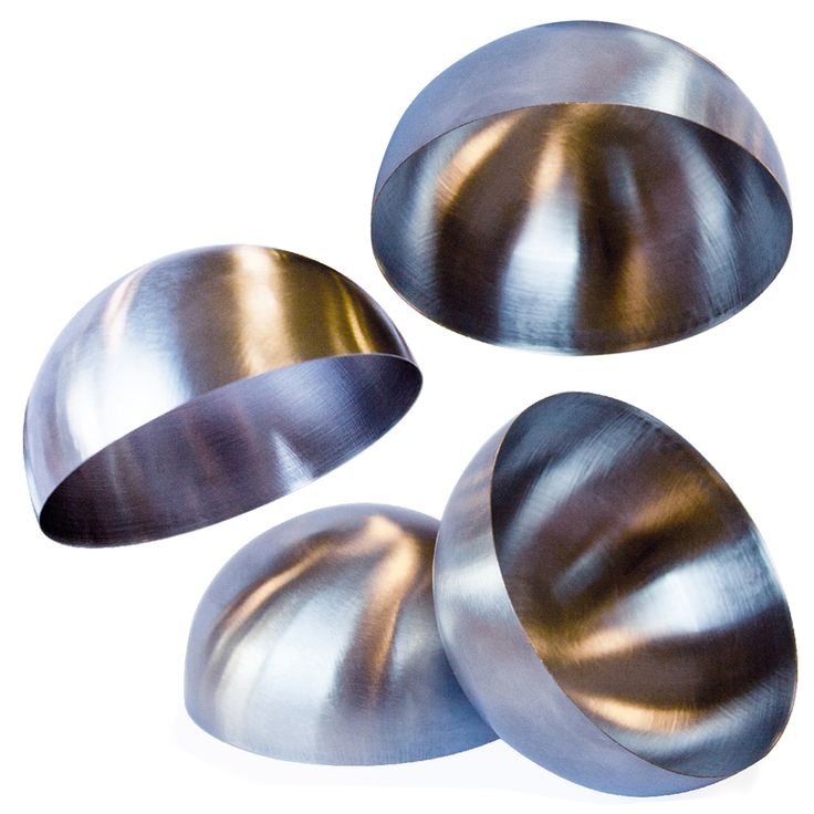 Molde Respostería Cúpula 8x4cm Inox CMP #moldesreposteria #utiles