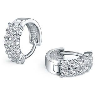 sterling silver hoop earrings - Google Search