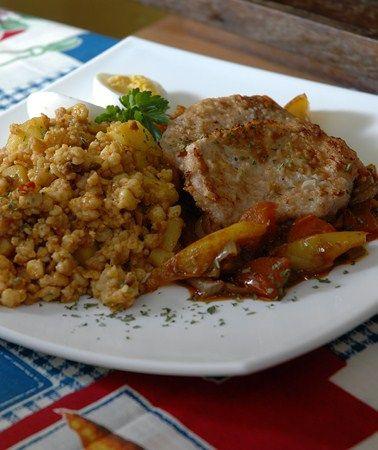 Hédervári lecsós borda - borda, szalonna (füstölt), sonka, zöldpaprika, vöröshagyma, recept, fõzés, sütés | Mit fõzzünk ma?