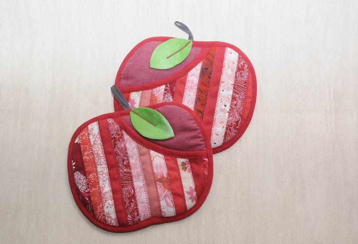 прихватки Яблочки красные-сентябрь 2015