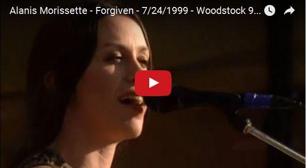 Watch: Alanis Morissette - Forgiven - 7/24/1999 - Woodstock 99 East Stage See lyrics here: http://alanismorissette-lyrics.blogspot.com/2010/06/forgiven-lyrics-alanis-morissette.html #lyricsdome