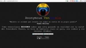 Anonymous Venezuela ataca sitios web militares y exige noticias veraces sobre Chávez - Cachicha.com