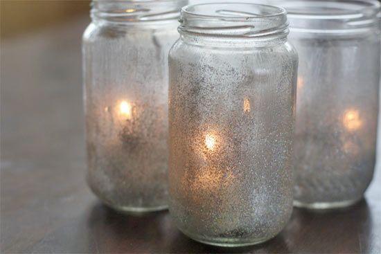 Glitter Tea lights... The perfect center piece!