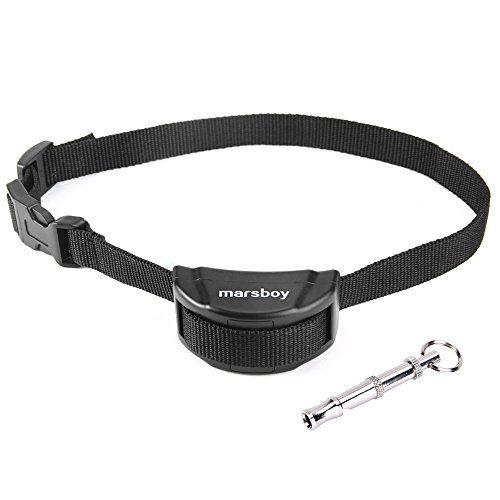 marsboy PET853 Collar Antiladridos para Perro Collar Adiestramiento con Batería con 7 niveles de sensibilidad ajustable + Silbato para Perros Anti Ladridos