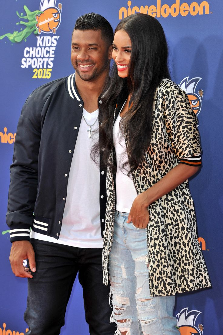 Ciara at the Kids' Choice Sports Awards with boyfriend Russell Wilson