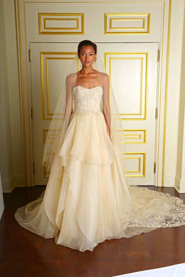 Marchesa and other top designers show their bridal looks for Fall 2015, here: