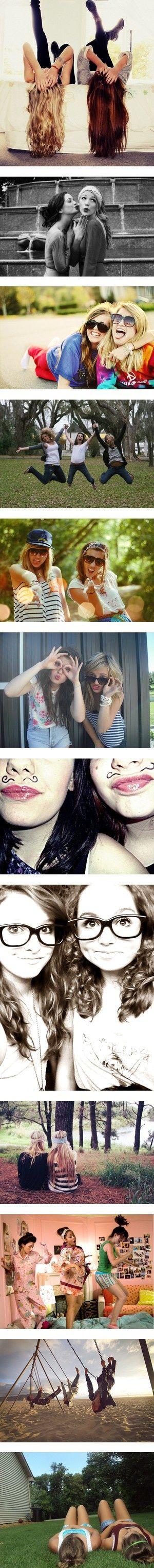podrias imitiar estas fotos con una de tus amigas o varias <3