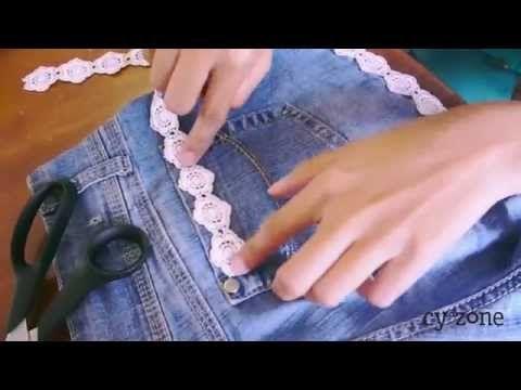 Shorts con Encaje DIY   Arwen - YouTube