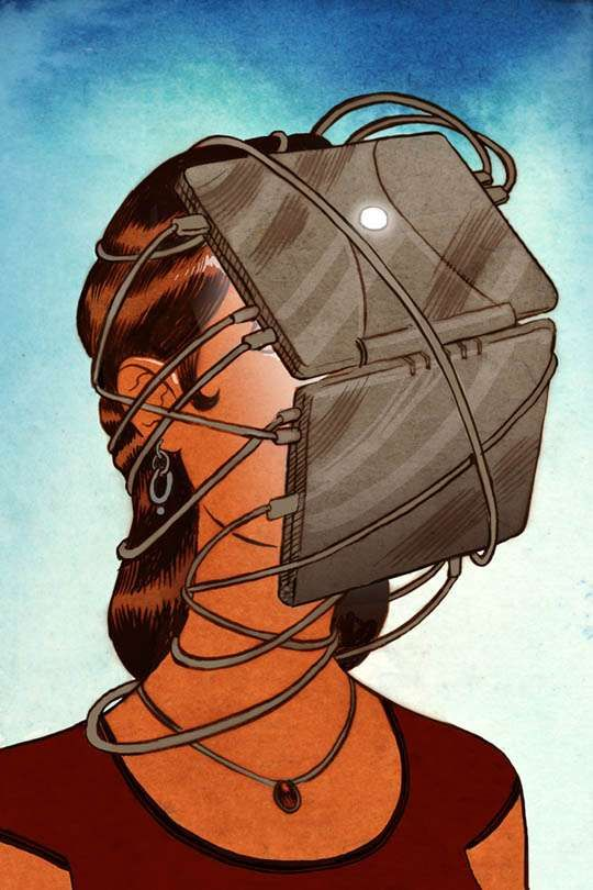 Social Surrealist Illustrations - Koren Shadmi Renders Technologically Critical Illustrations (GALLERY)