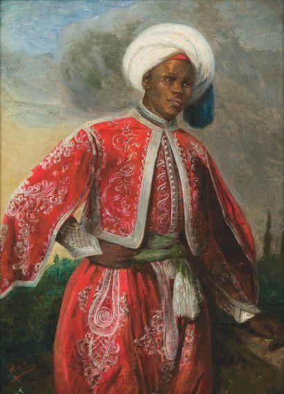 Hans BERG (1813-1874)  Le jeune ottoman.