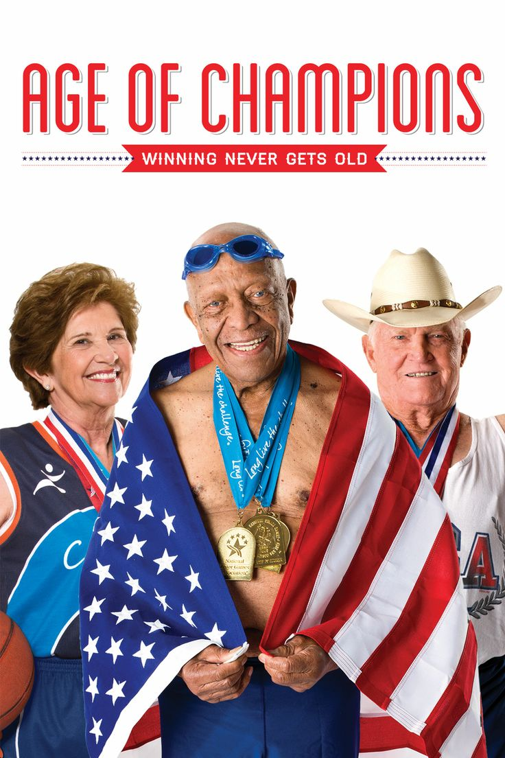 """Age of Champions - Christopher Rufo, Keith Ochwat 2011 - DVD06229 -- """"About 5 athletes who sprint, leap & swim for gold at the National Senior Olympics. You'll meet a 100-year-old tennis champion, 86-year-old pole vaulter & rough-and-tumble basketball grandmothers as they triumph over the limitations of age. But when one athlete loses a spouse & another is diagnosed with cancer, they've got to dig even deeper to make their Olympic dreams come true."""" Image: newvideo.com"""