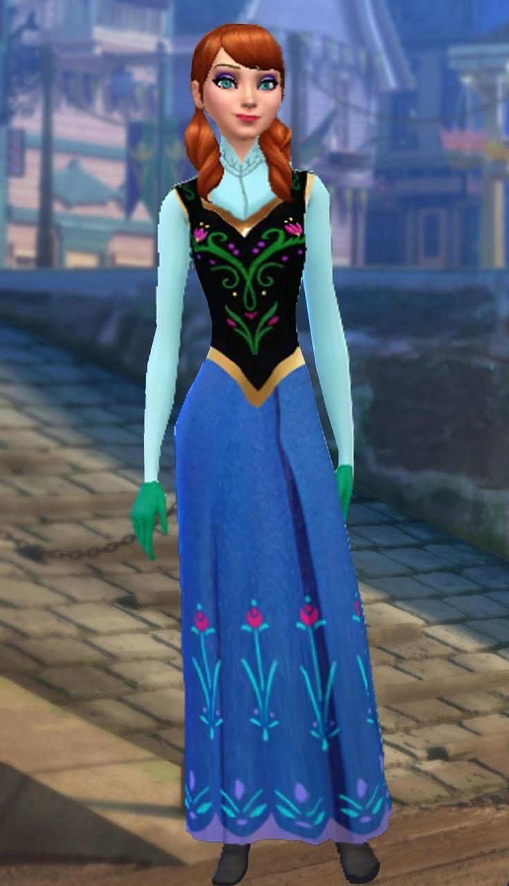 Hola , Hace tiempo subi el vestido de Elsa , y hoy me he decidido por subir el de Anna .  Representa el vestido que Anna compra en la tiende...