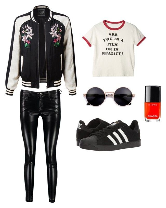 Ouat mulan style by oppachan on Polyvore featuring LE3NO, Boohoo and adidas