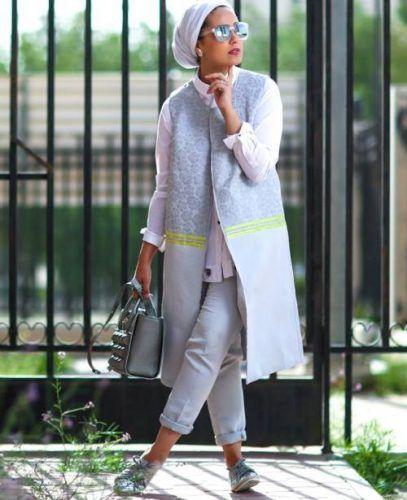 long cardigan jacket hijab style- Hijab lookbook ideas http://www.justtrendygirls.com/hijab-lookbook-ideas/