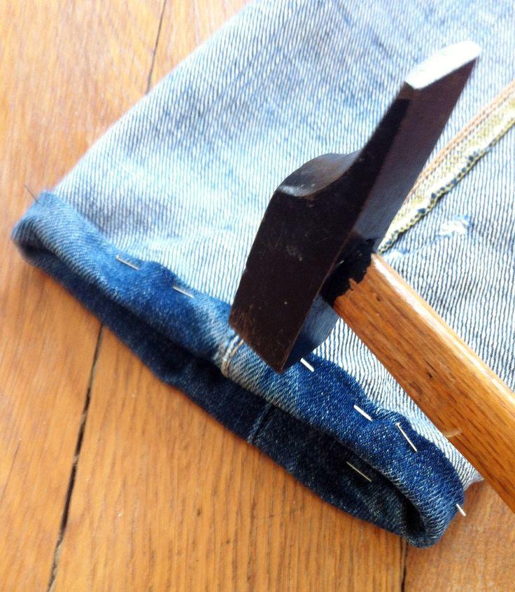 les 25 meilleures id es de la cat gorie jeans ourlets sur pinterest ourlet jeans couture de. Black Bedroom Furniture Sets. Home Design Ideas