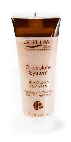 Brazilian Keratin Soft Liss Chocolate Kit 8oz. by Soft Liss. Save 26 Off!. $62.25. PRESENTATIONS: 8 (Oz). Recommended for mixed hair, dyes or coloring, with frizz. RESTORATION LEVEL: 90% in each strand.. EFFECT: 4 to 5 months. USE: Professional. Brazilian Keratin hair Treatment Soft-Liss Progressive Blowdry Chocolate KIT  -  Contains softening agents, humidifiers, antioxidants and vitamins that intensely nourish your hair. It is rich in fatty acids that form a natural prote...