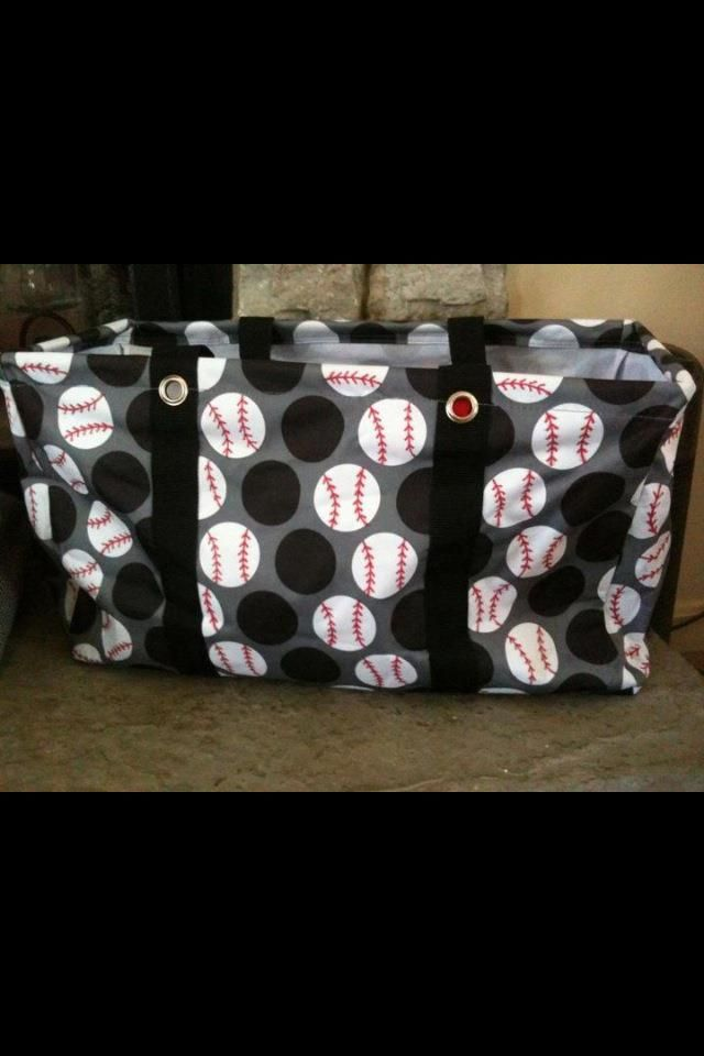 Large Utility Tote-$30  Wonderful idea for baseball Moms! ... let me know if interested i know a lady who sells 31 gifts