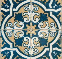 Vintage Tegels FS-2 Geel Blauw Wit 45x45 cm