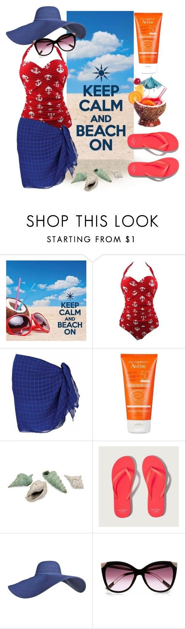 """""""Beach On!"""" by nimas on Polyvore featuring Avène, IMAX Corporation, Abercrombie & Fitch, River Island and Dollhouse"""