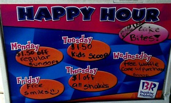 Happy Hour at Baskin Robbins