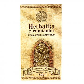 """HERBATA Z RUMIANKU - Produkty Benedyktyńskie     Rumianek pospolity nazywany też """"rumiankiem lekarskim"""" bądź """"rumiankiem aptecznym"""", jest środkiem uniwersalnym, szczególnie dla małych dzieci..."""