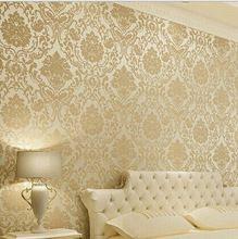 Vintage Klassische Beige Französisch Moderne Damast-feature-tapete Wandpapierrolle Für Wohnzimmer Schlafzimmer TV Hintergrund(China (Mainland))