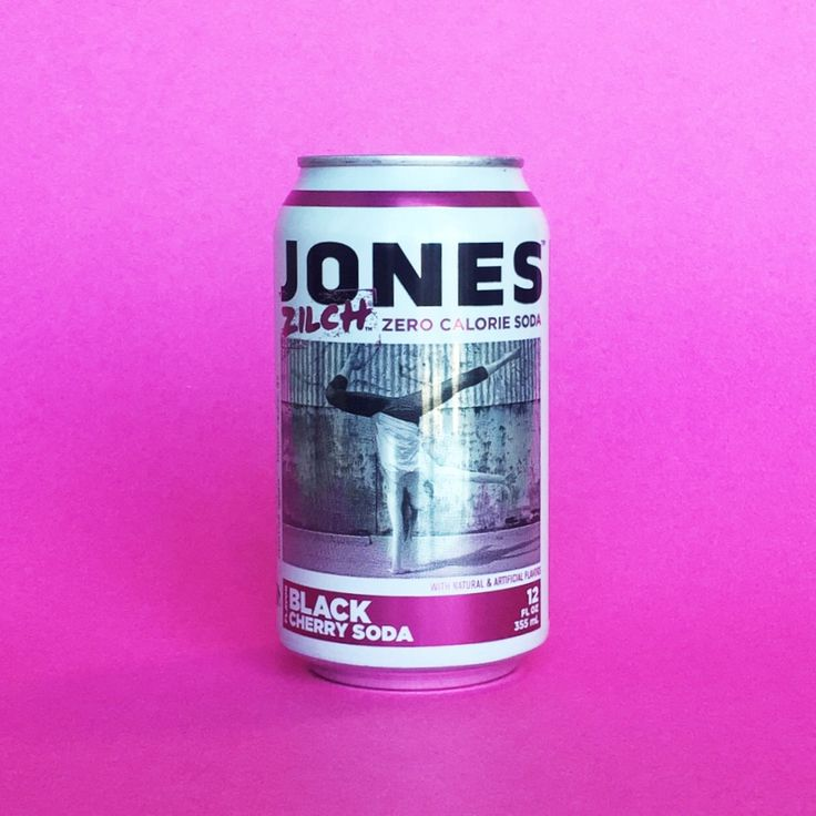 12-pack of Zilch Black Cherry Jones Sugar Free Soda in Cans