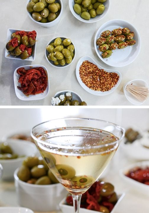 Create a DIY Extra Dry Martini Bar for your next happy hour. Your guests will love the create-your-own cocktails.