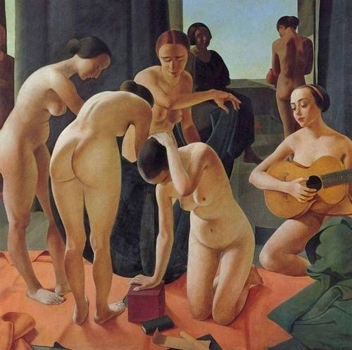 Felice Casorati (Italian, 1883-1963) - Concerto, 1924