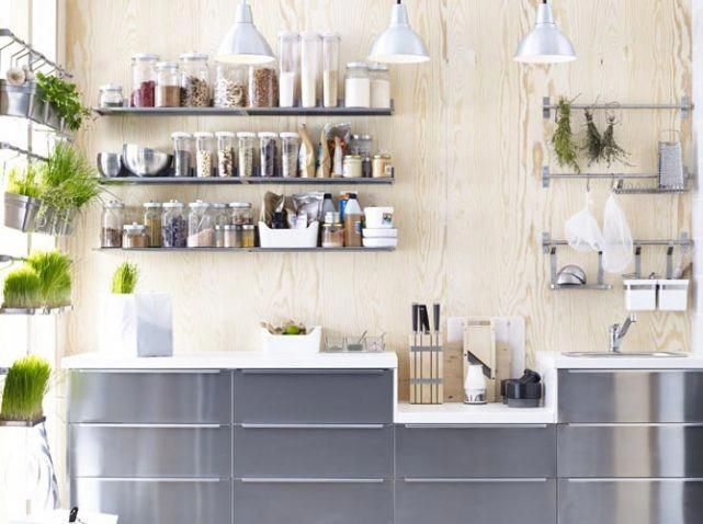 Cuisine Avec Etageres Condiments Ikea Traditionalkitchen Kitchen Design Small Interior Design Kitchen Cow Kitchen Decor