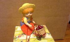 1985 Enesco Country Cousins Katie Metal Mart & Wooden Basket 302031/B w/box