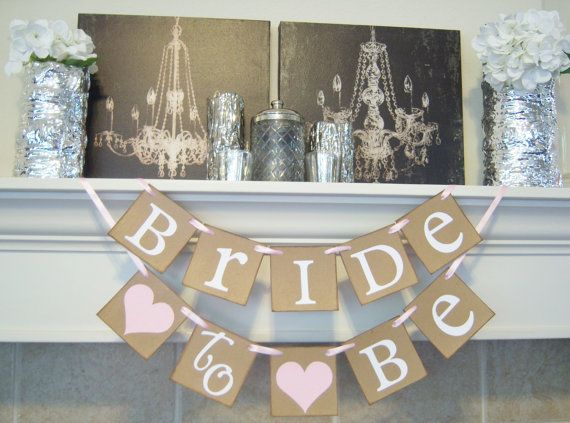 Bridal Shower banner,Bachelorette, bridal shower decor, Bride to be banner, wedding banner, bridal shower, decorations, wedding banners on Etsy, $18.00