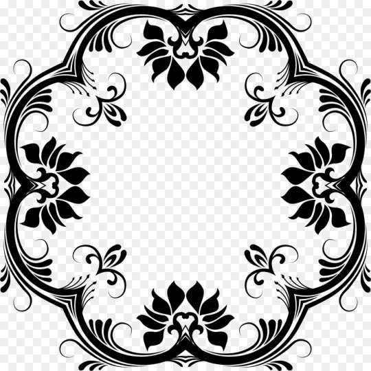 12 Floral Designs Png Black And White Floral Vector Png Flower Border Clipart White Flower Png