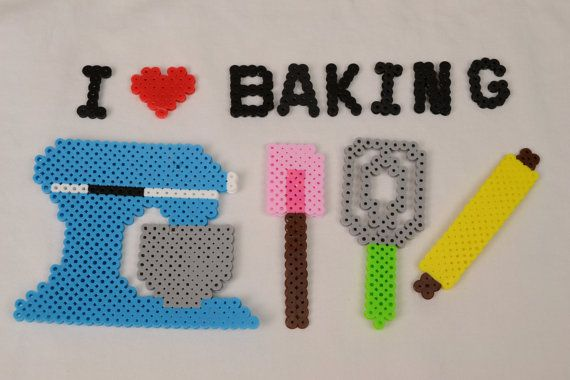 I Love Baking Perler Bead Set by TheCraftyCreativity