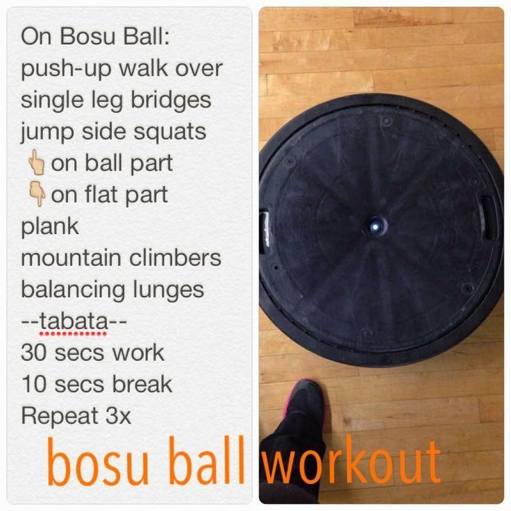 Bosu Ball Total Body Workout: 48 Best Images About Bosu Ball Training On Pinterest