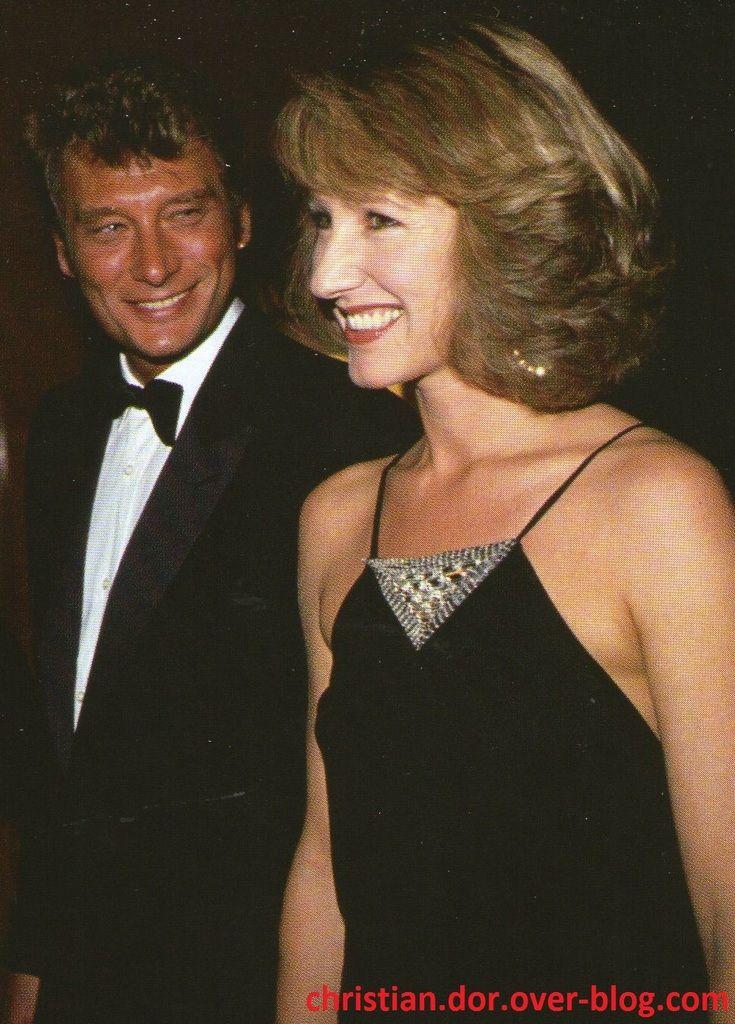 johnny hallyday et  Nathalie Baye  photos 1982