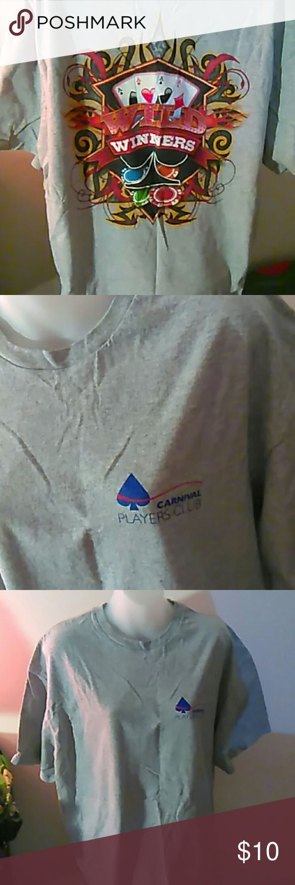 Carnival Players Club tee, mens xl XL men's tee Delta Pro Weight Shirts Tees - Short Sleeve