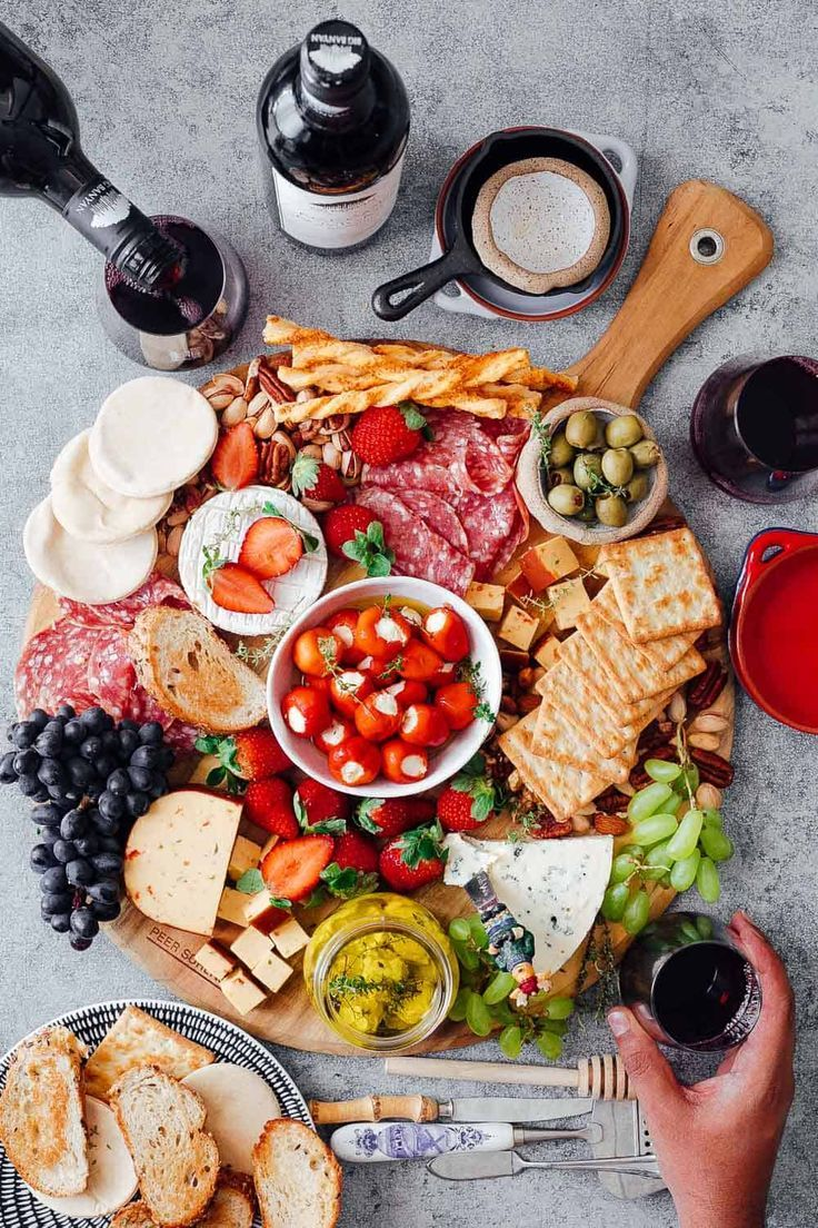 How To Make The Ultimate Wine And Cheese Board On A Budget Food Vegetarian Appetizers Cooking On A Budget