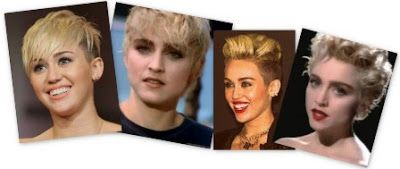 Miley Cyrus looks like Madonna from the Papa Dont Preach Era of 1986 #Madonna it Seems like Styles Repeat Repeatedly