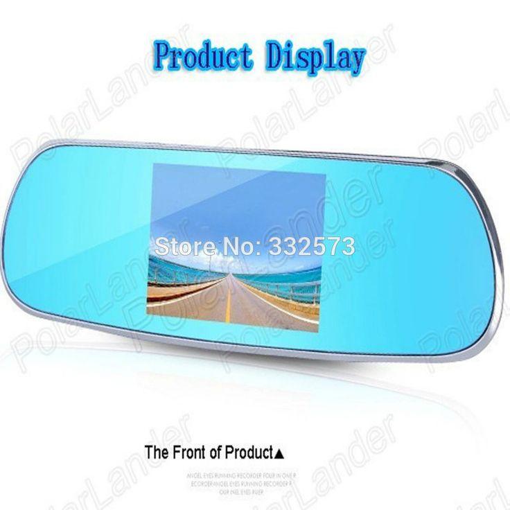 Hot Sale 5.0'' Full HD 1080P   Rearview Mirror Video Recorder Car DVR Dual Night Vision Parking Camera G-Sensor