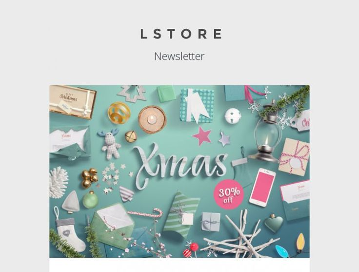 Check out the LSTORE email design example and get inspired. With Mailerlite you can start creating your own newsletters for free within minutes.
