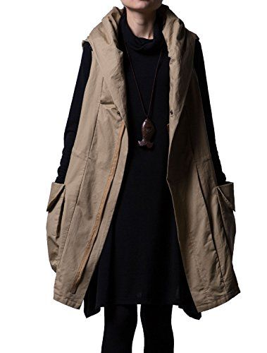 """New Trending Formal Dresses: Mordenmiss Women's Sleeveless Coat Big Pockets Waistcoat Travel Hoodie Vest (Large, Style 1-Khaki). Special Offer: $55.00 amazon.com Mordenmiss has registered US Trademark """"Mordenmiss"""". This item is only provided by Mordenmiss, and did not authorize any second stores to sell our items. If other seller follow selling our items, please kindly notice us or report to Amazon..."""