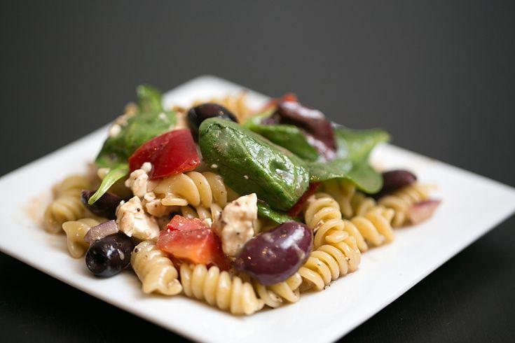 Greek Pasta Salad ~ Healthy Picnic Recipes » Christy Tyler Photography