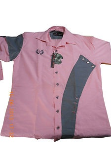 New Mens Luxury Stylish ZEMONZAA Branded Light Pink Colour Slim Fit Casual Shirt